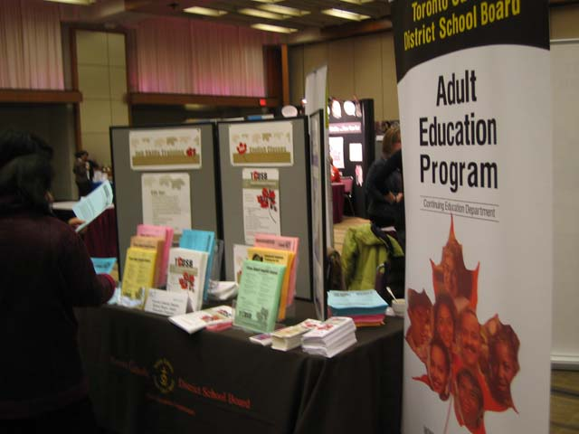 Display board of the Adult Education Program