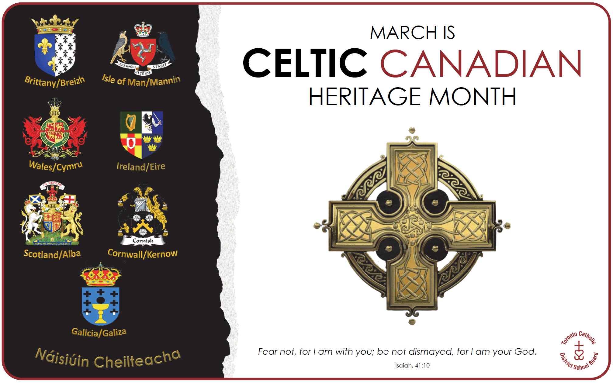 Poster: March is Celtic Canadian Heritage Month