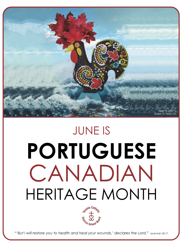 June is Portuguese Canadian Heritage Month poster