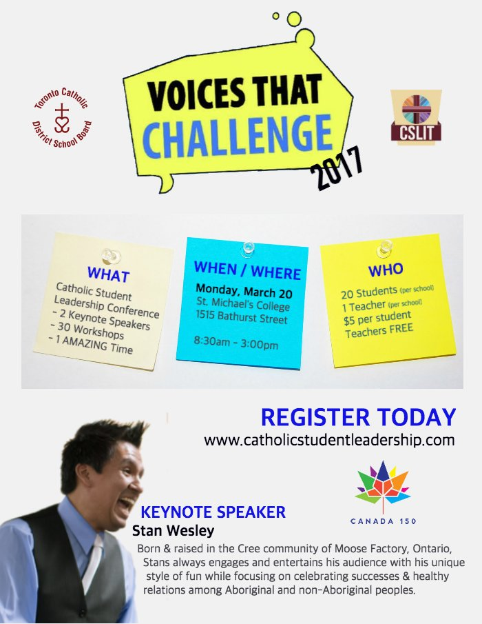 Voices That Challenge flyer