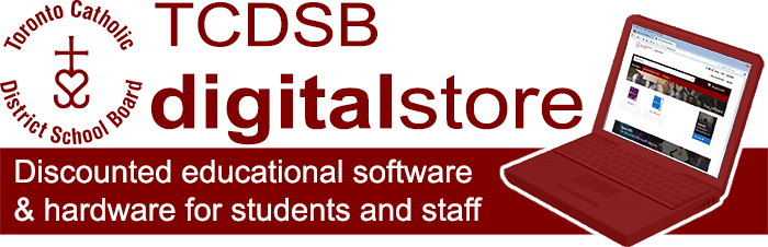 TCDSB Digital Store - Discounted educational software and hardware for students, faculty, and staff logo