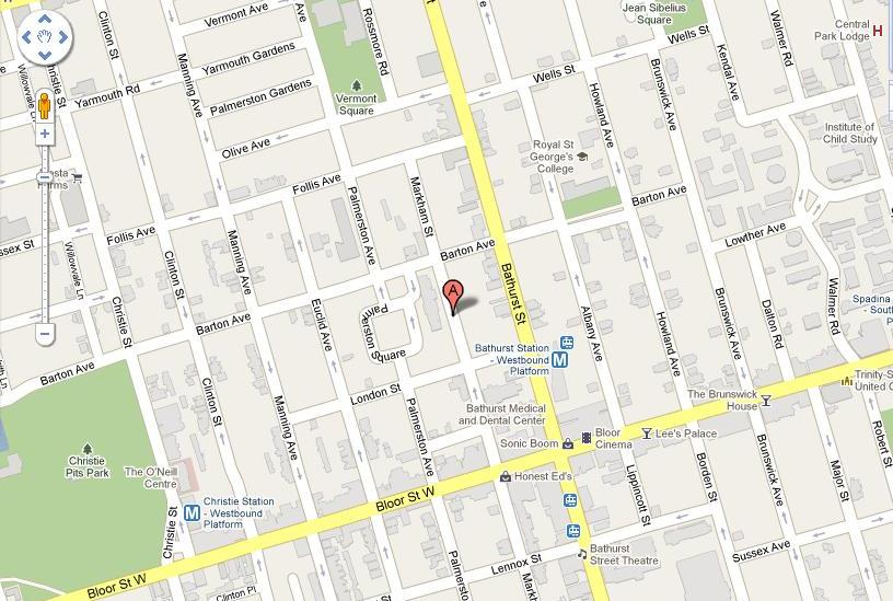 OC location at 700 Markham street, downtown Toronto
