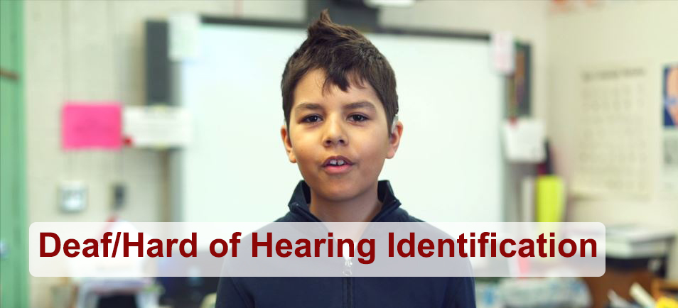 Deaf/Hard of Hearing Identification