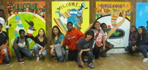 Students' subway murals on display for Pan Am Games
