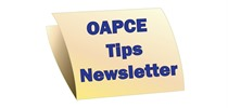OAPCE Toronto Tips Newsletters
