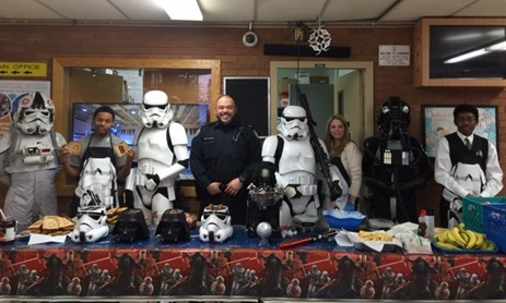 Star Wars Storm Troopers join Chaminade Students for Breakfast
