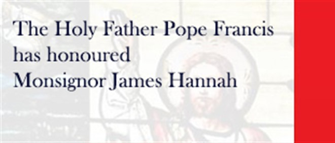 Congratulations to Monsignor James Hannah