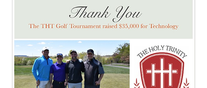 Thanks to Community for Support of Golf Tournament