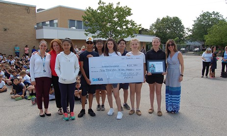 Our Lady of Peace Donates over $10K to SickKids Foundation