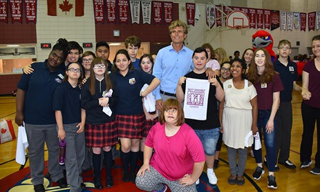Anthony Kennedy Shriver and Best Buddies Hoop It Up at Fr. John Redmond