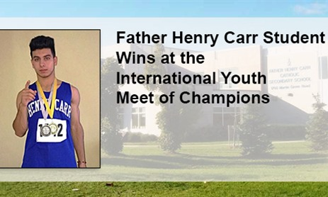 Father Henry Carr Student Wins at the International Youth Meet of Champions