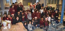 Romero Welcomes Students to Winter Wonderland