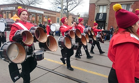 MPSJ Drum Line at Santa Claus Parades