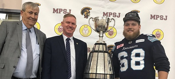 Grey Cup Visits Michael Power-St Joseph