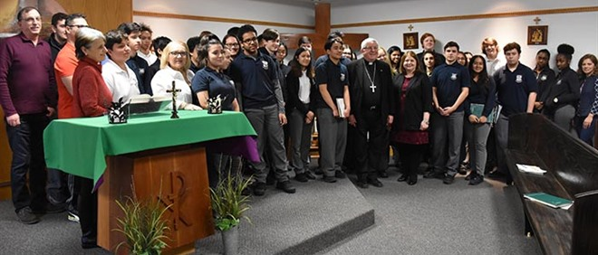 Cardinal Thomas Collins Visits St. Mary Catholic Academy