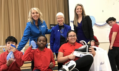 St. Nicholas Students receive Skate Donation