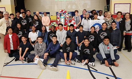 Mary Apostalate Visit to St. Lawrence School