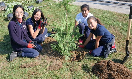 Tree Planting at St. Martin de Porres