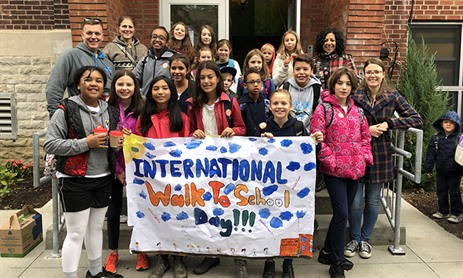 St. Cecilia Celebrates International Walk to School Day