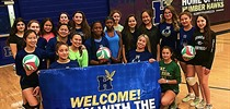 Madonna Volleyball Team Visits Humber Hawks