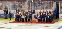 St. Cecilia Choir Performs Anthem at OHL Game