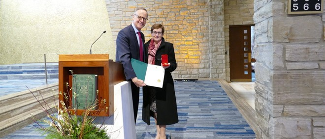 St. Anselm Recognizes School Secretary