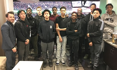 St. Mary Catholic Academy Basketball Team attends Raptors Game