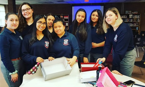 St Mary's Rebel Girls Take On Shoebox Project