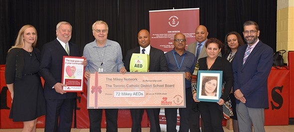 All TCDSB Facilities Now Equipped with Automated External Defibrillators