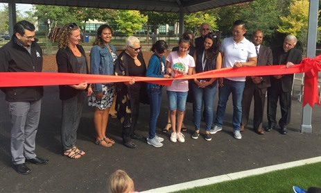 St Cyril Cuts Ribbon for New Playspace