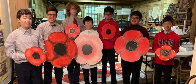 SMCS Remembrance Day Art Installation