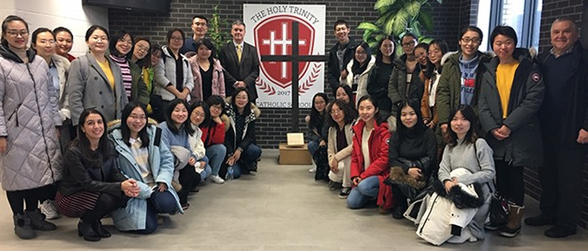 Teachers from China Visit The Holy Trinity