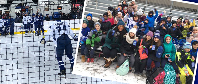 St Pius X Students Enjoy Leafs Outdoor Practice