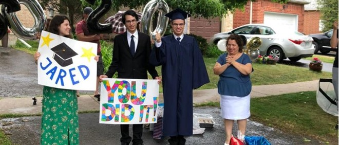 Graduation Parade Cel​ebrates Toronto Student with Autism
