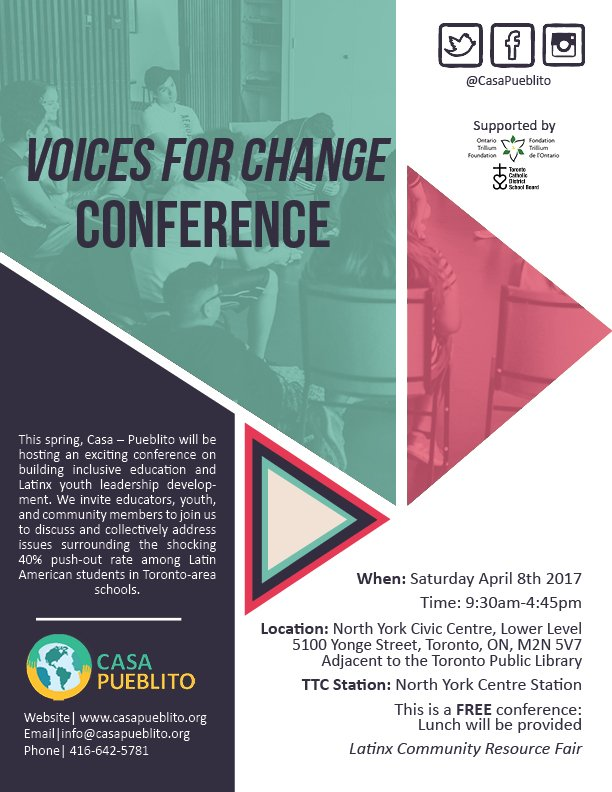 Voices for Change flyer