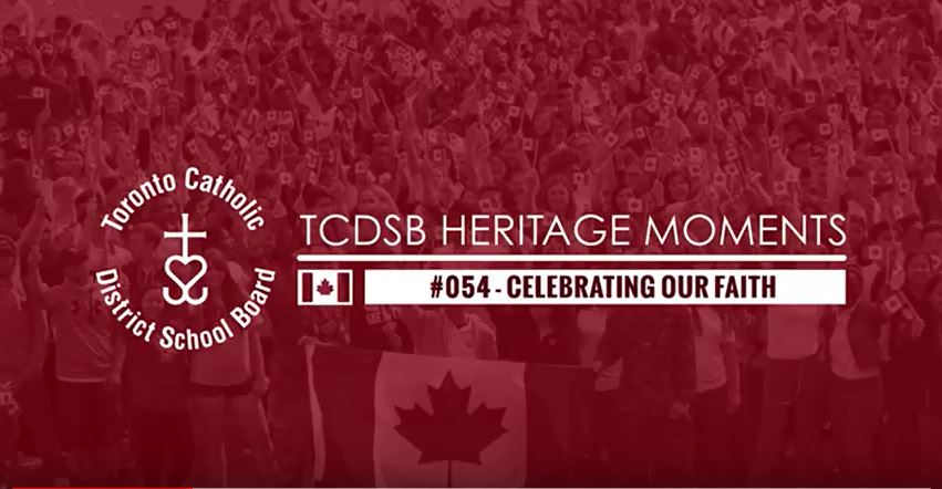TCDSB Heritage Moment #049 - Celebrating Our Alumni