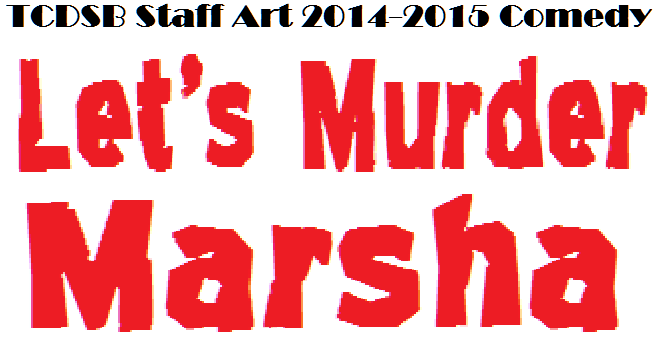 Logo for Lets Murder Marsha