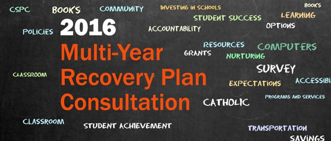 2016 Multi-Year Recovery Plan