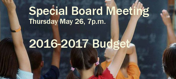 Special Board - Budget May 26, 2016