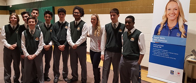 Olympian Sarah Wells visits Chaminade College