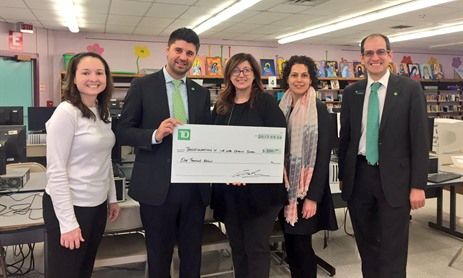 Transfiguration Receives Funds from TD