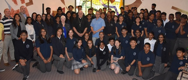 Bishop Mark Hagemoen Visits St. John Paul ll