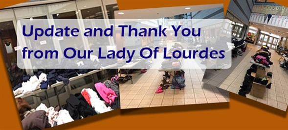 Update and Thank You from Our Lady Of Lourdes