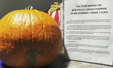 Unique Pumpkin Tells a Story