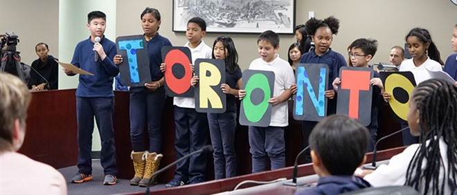 St. Barnabas Students Celebrate National Child Day at City Hall