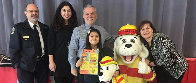 St Simon Student Wins Fire Prevention Week Poster Contest