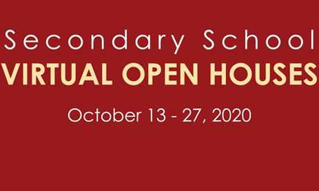 Secondary School Virtual Open House Events