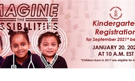 Kindergarten Registration: ONLINE ONLY