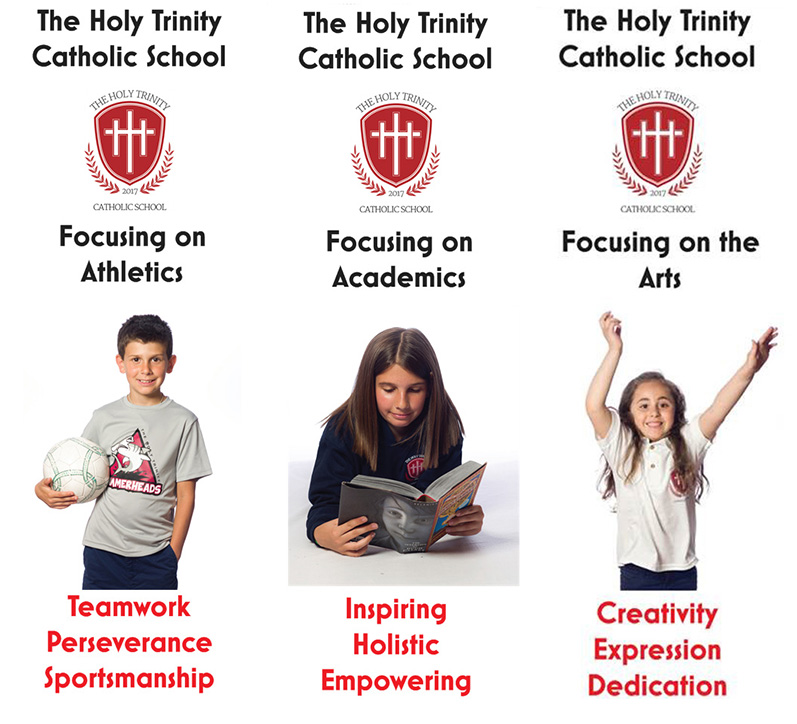 The 3 Pillars of The Holy Trinity.  Focusing on Athletics, Academics and the Arts