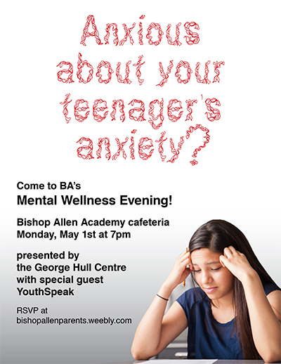 Anxious About Your Teenager's Anxiety? flyer